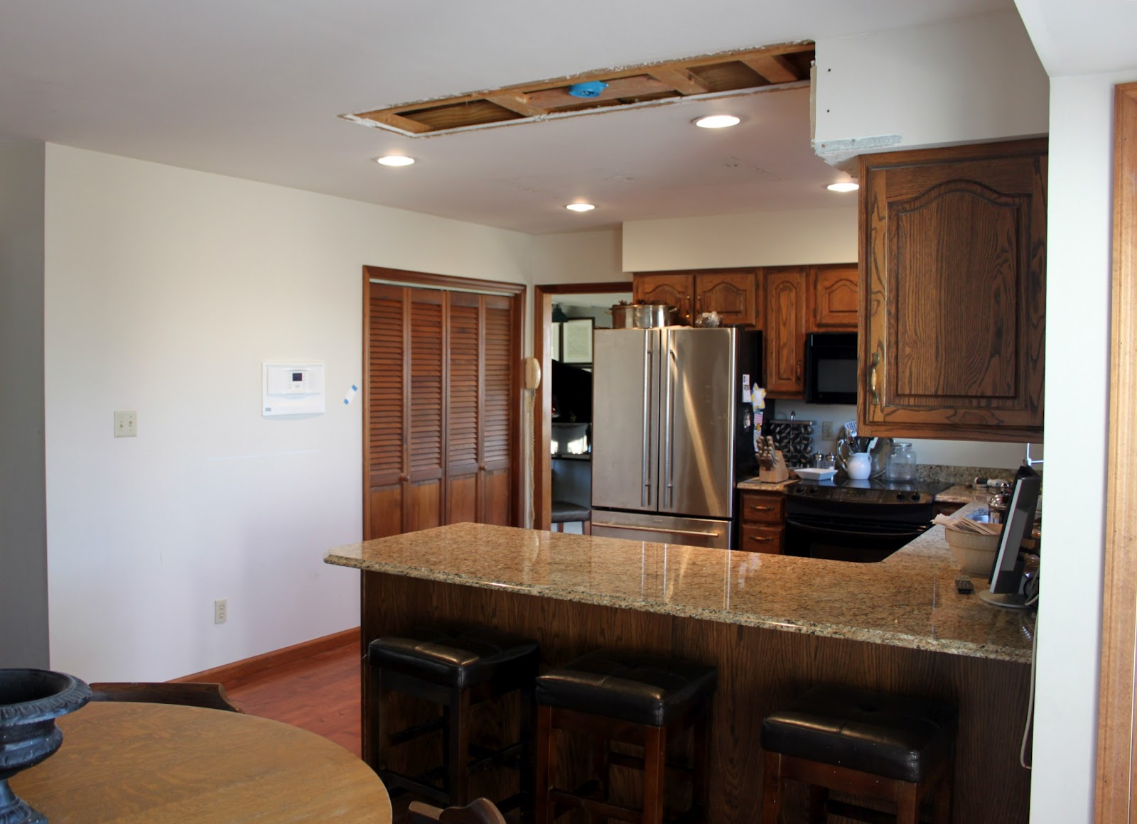 Soffit above Kitchen Sink