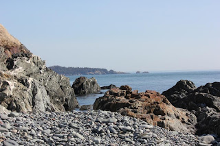 rocky shoreline Maine