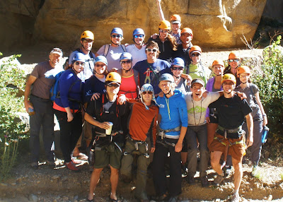 Benjamin Rubenstein and First Descents camp group photo