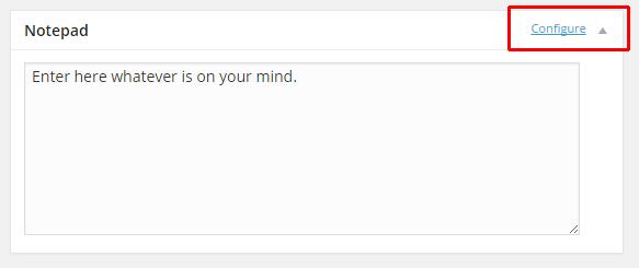 Cara menambahkan Notepad di Dashboar Wordpress.