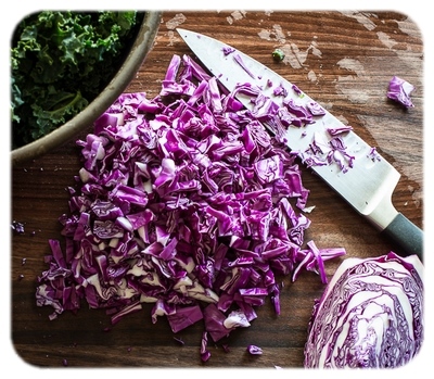 A Chopped Red Cabbage