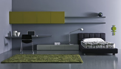 modern green teen bedroom design