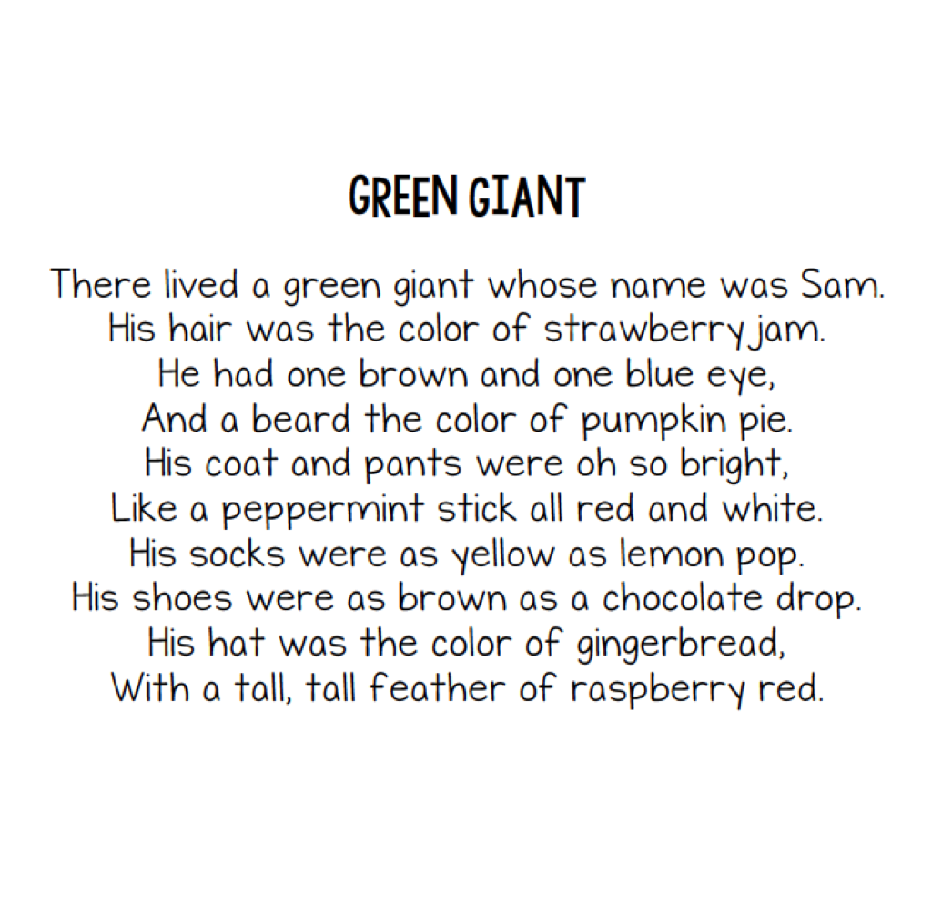 Image result for the green giant poem