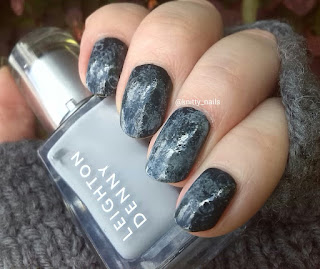 Saran wrap mani with Leighton Denny Graycious and Leighton Denny Zero Gravity