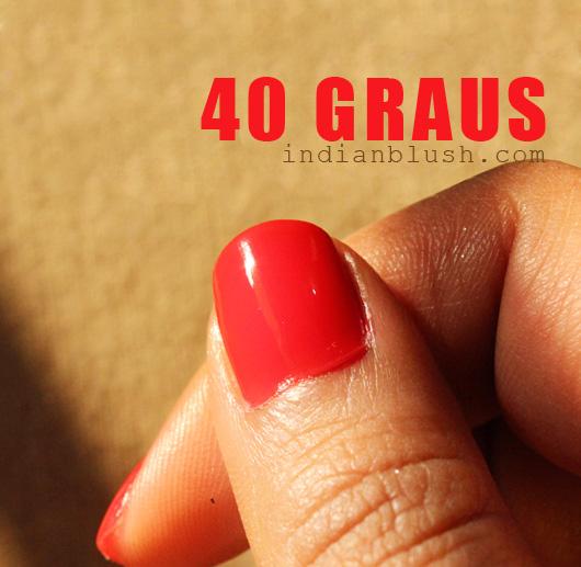 Maybelline Colorama Nailpolish 40 Graus shade swatches