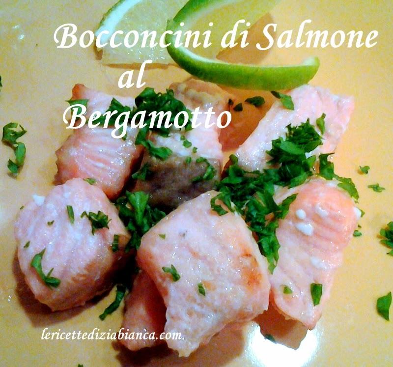 bocconcini di salmone al bergamotto