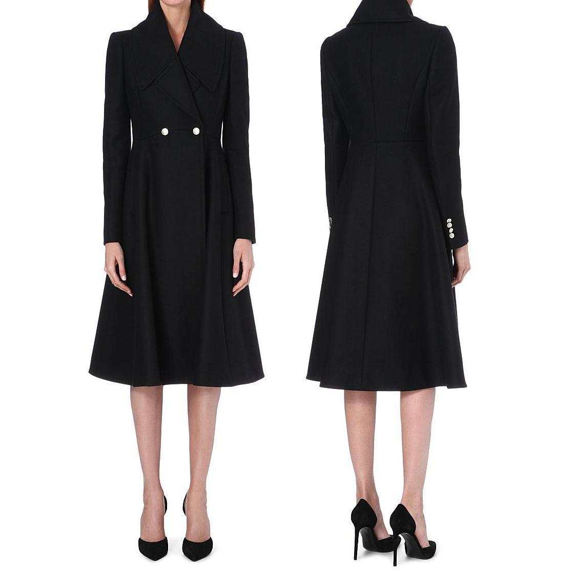 Kate Middleton - ALEXANDER MCQUEEN Flared wool coat