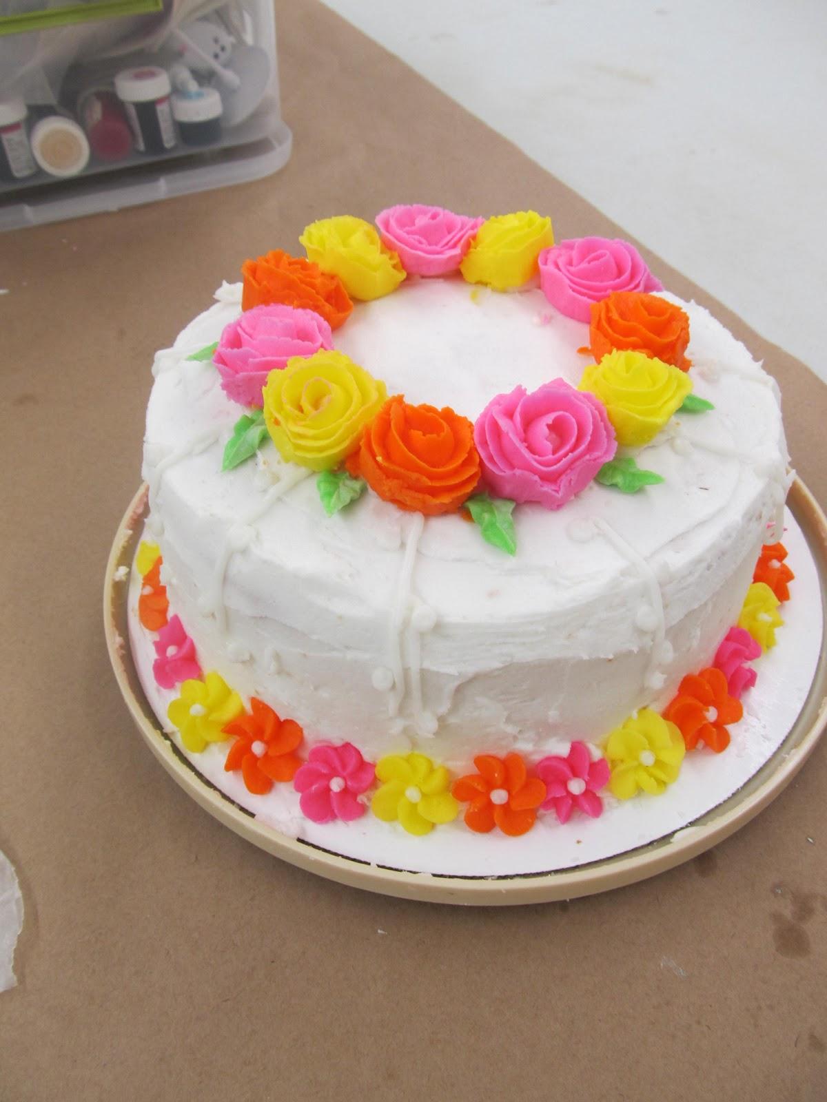 Cake Crumb Girl: Course one: Wilton Cake Decorating Basics ...