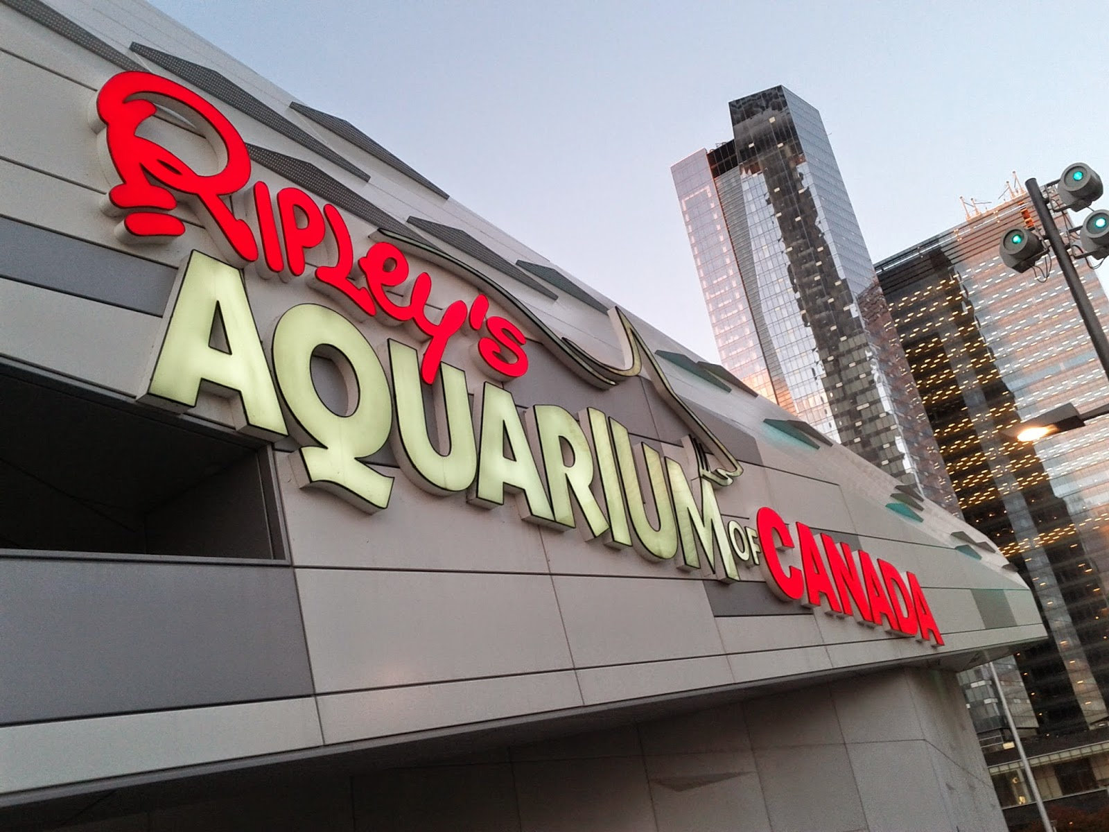 Ripley's Aquarium of Canada Sign
