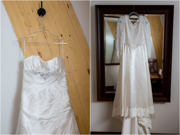 Bride wore both her wedding gown and her mother's wedding gown which was made by her grandmother / #weddinggown via www.lemagnifiqueblog.com