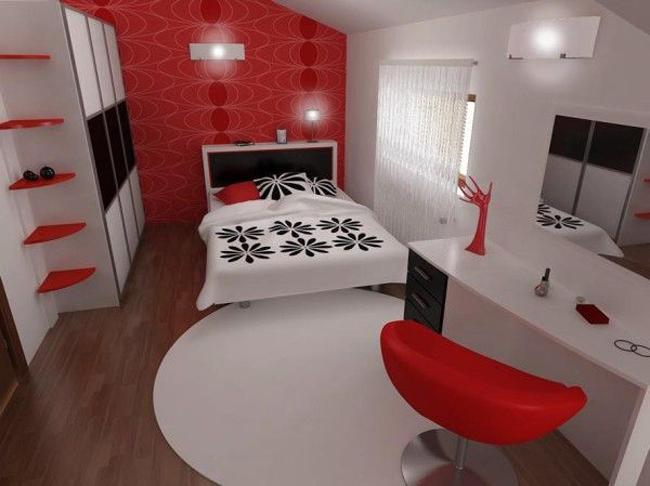 Черно красная спальня фото