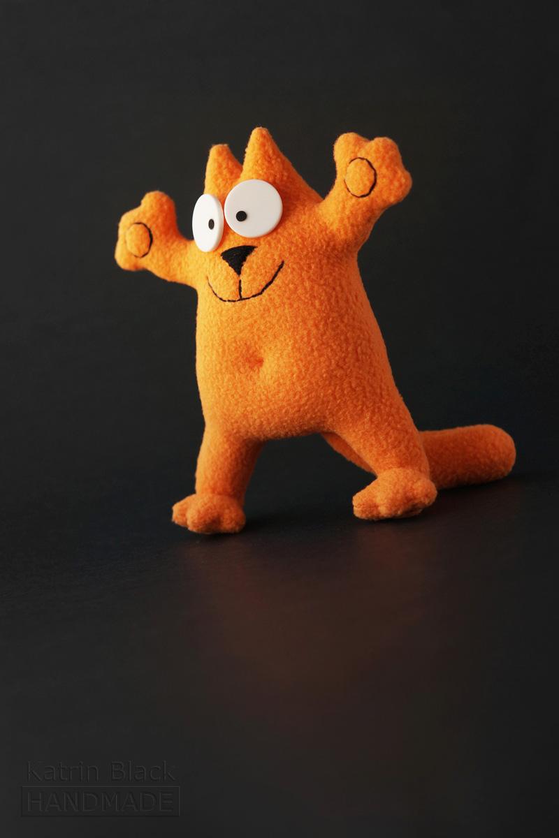Котик Саймон с гнущимися лапками! Игрушка на проволочном каркасе. Заказать.