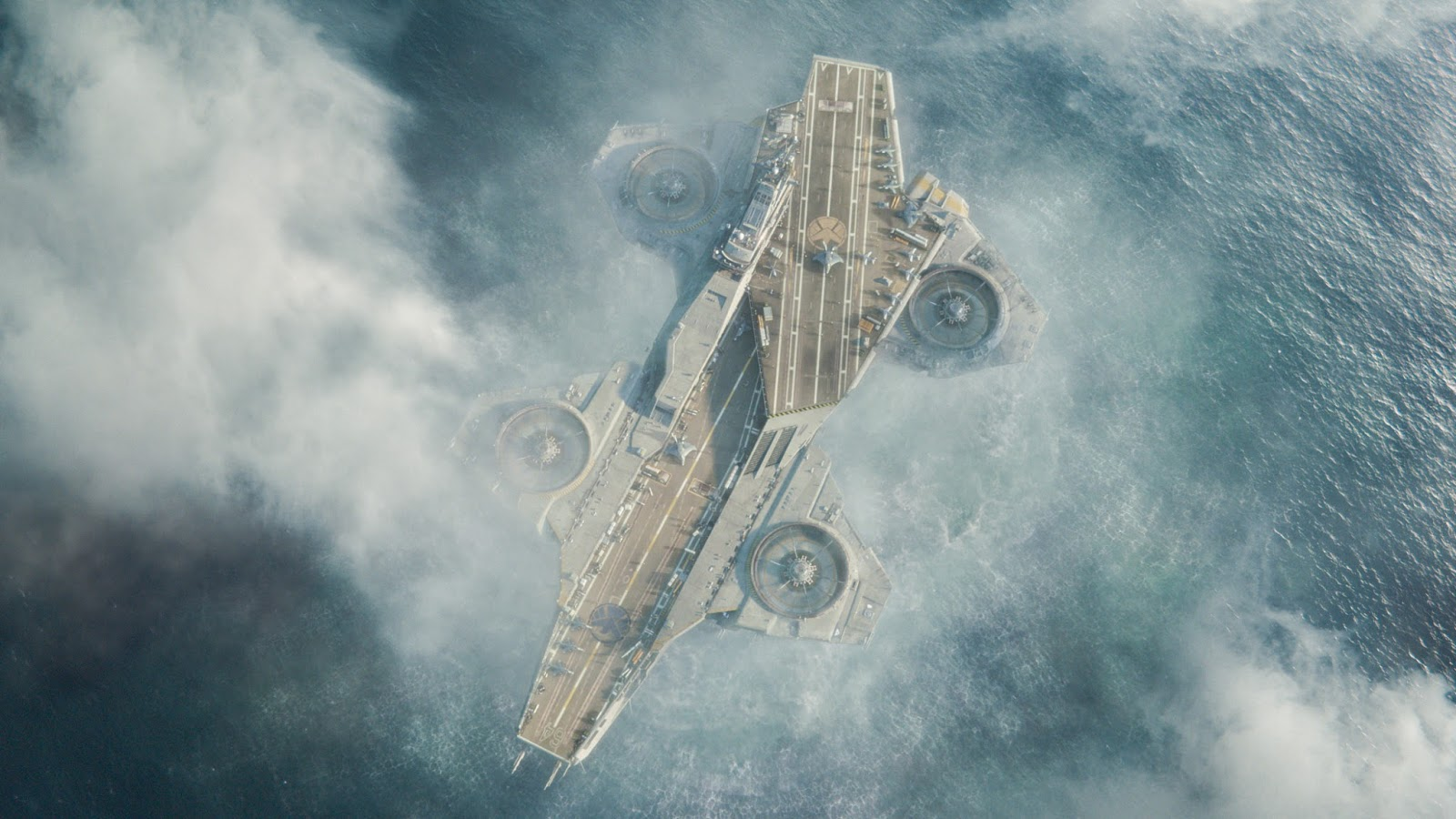 One Of Cool Stuff Along The Movie Was Flying Aircraft Carrier Well Same Concept If You Ever Saw Sky Captain And World Tomorrow 2004 For More