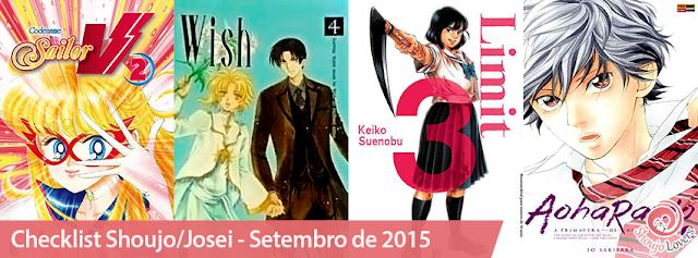 Checklist Shoujo/Josei - Setembro de 2015