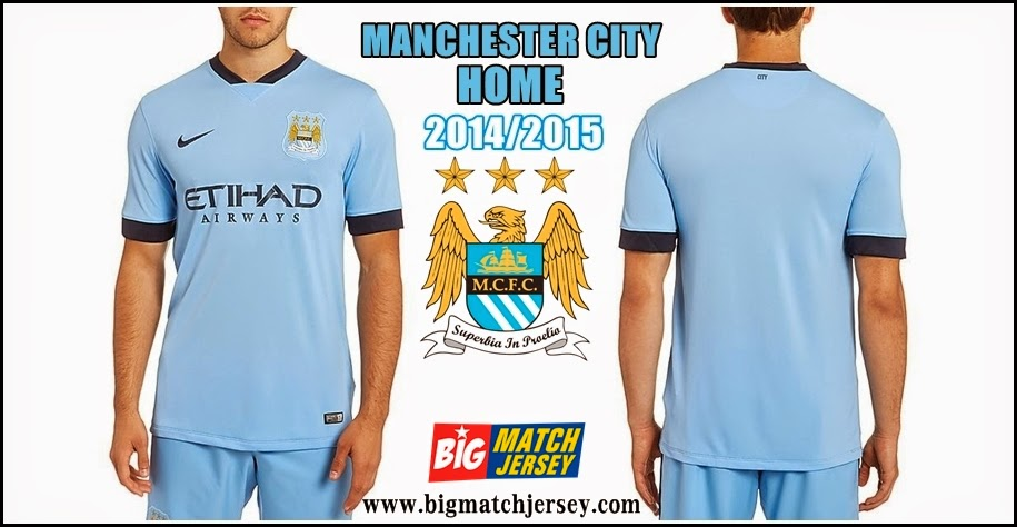 Jersey Club Terbaru Manchester City Home Official 2014-2015