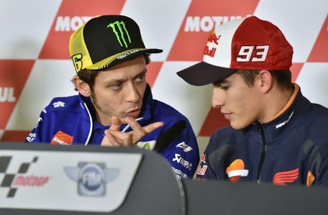 La tensión Rossi - Márquez se traslada a las marcas