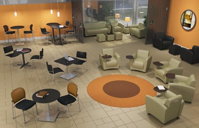 modular lobby layout