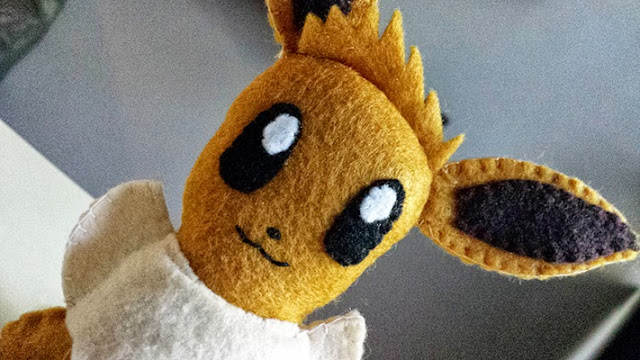 How to Make an Eevee Pokemon plushie tutorial