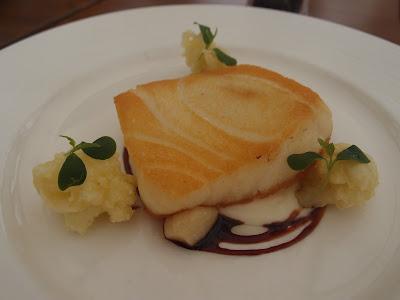 Pan fried cod fish