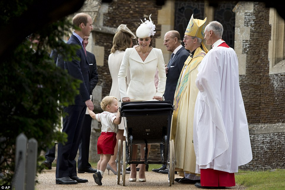 Kate Middleton wears Alexander McQueen for Princess Charlotte's Christening