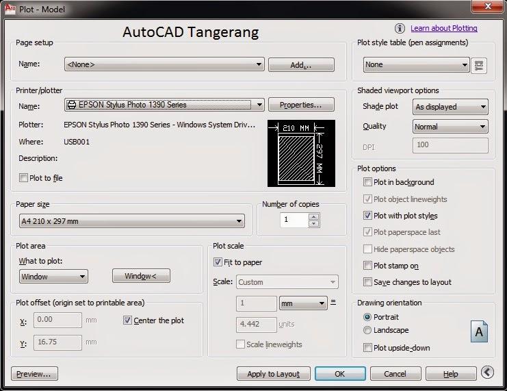 Panduan Cara Mencetak Gambar AutoCAD.