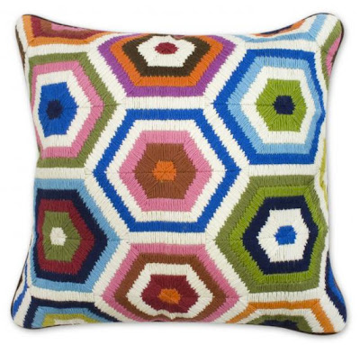 Jonathan Alder honeycomb hexagon pillow