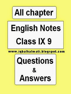 English IX 9th Class Notes