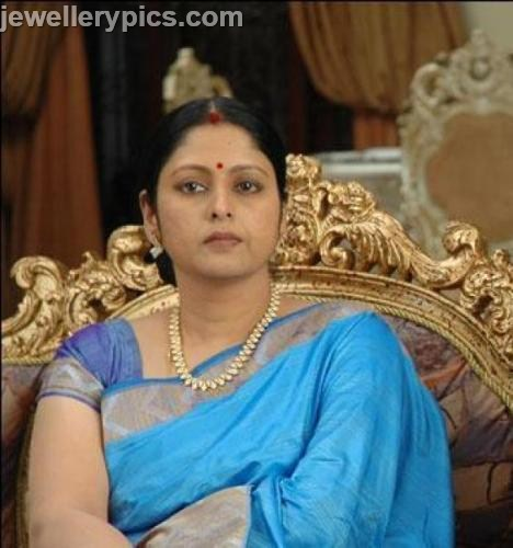 Vetaran Actress Jayasudha In Designer Necklace Latest