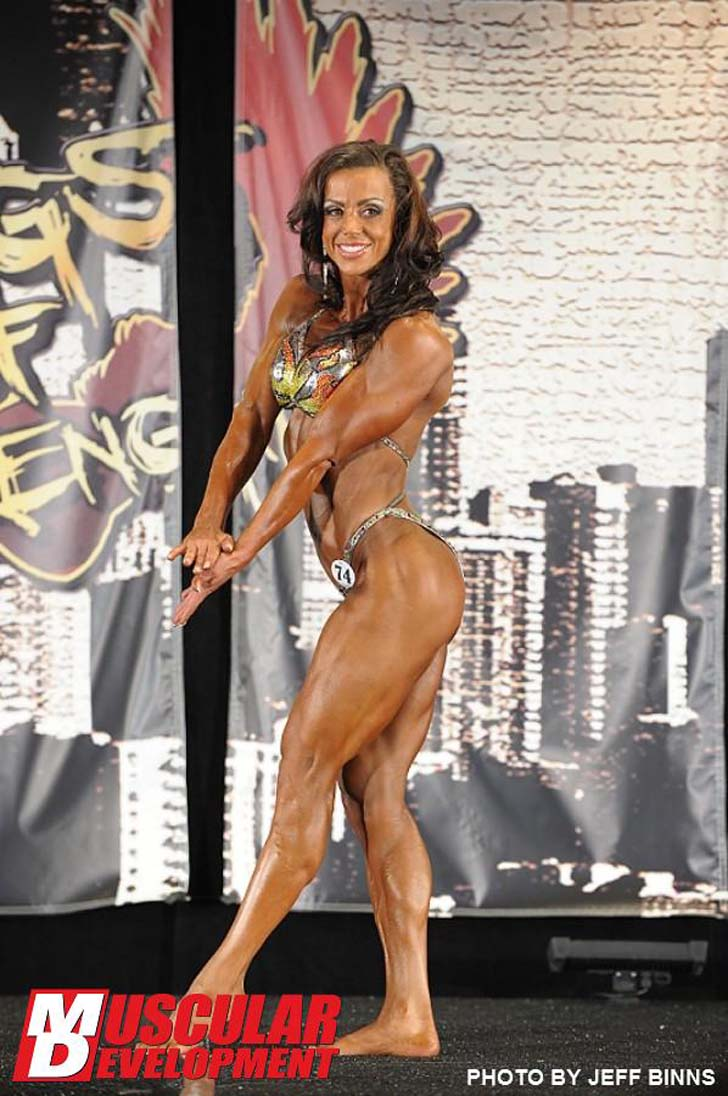 Nola Trimble Flexes Her Shredded Muscles Above At The 2012 Wings Of Strength Pro