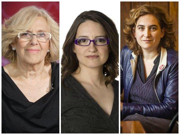 Las mujeres del cambio: Manuela Carmena, Ada Colau y Mónica Oltra