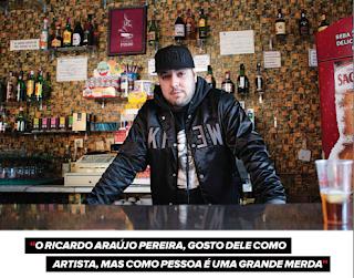 """Sam The Kid diz que Ricardo Araújo Pereira é uma """"grande merda"""" de pessoa"""