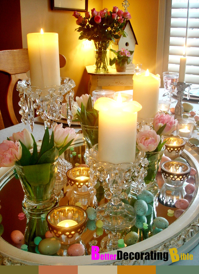 Substance of living 8 quick and easy easter table decorations for Easter decorations ideas for the home