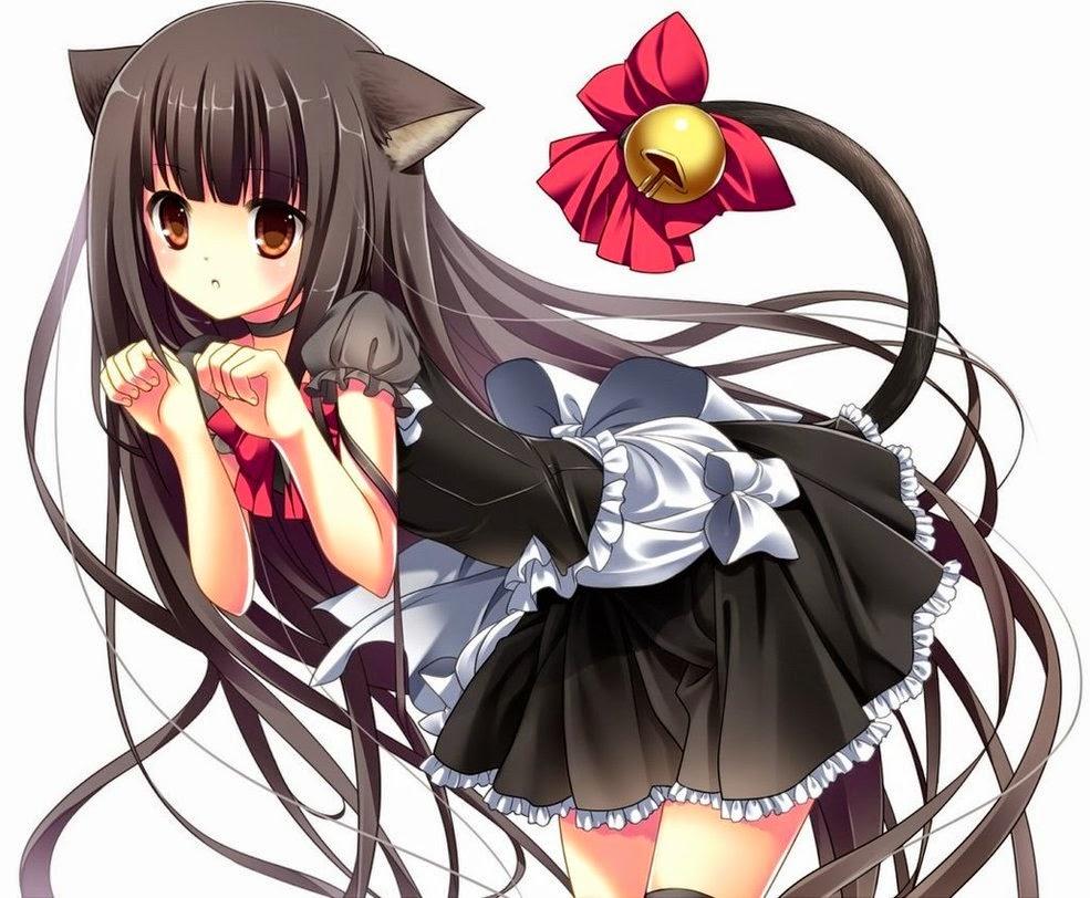 anime neko girl with brown hair newhairstylesformen2014com