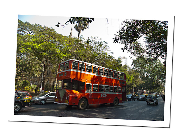 Public bus in Bombay