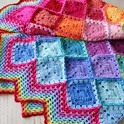 Happy Harlequin Blanket - Free Pattern