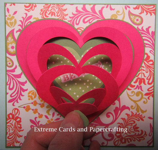 Extreme Cards and Papercrafting Pull Tab Valentine Pop Up Card – Valentine Heart Cards