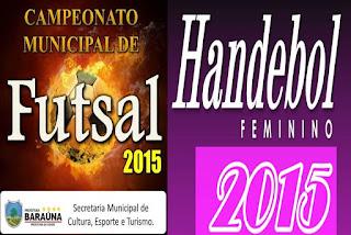 Resultados; Campeonatos de Futsal e Handebol realizados sábado (21) em Baraúna