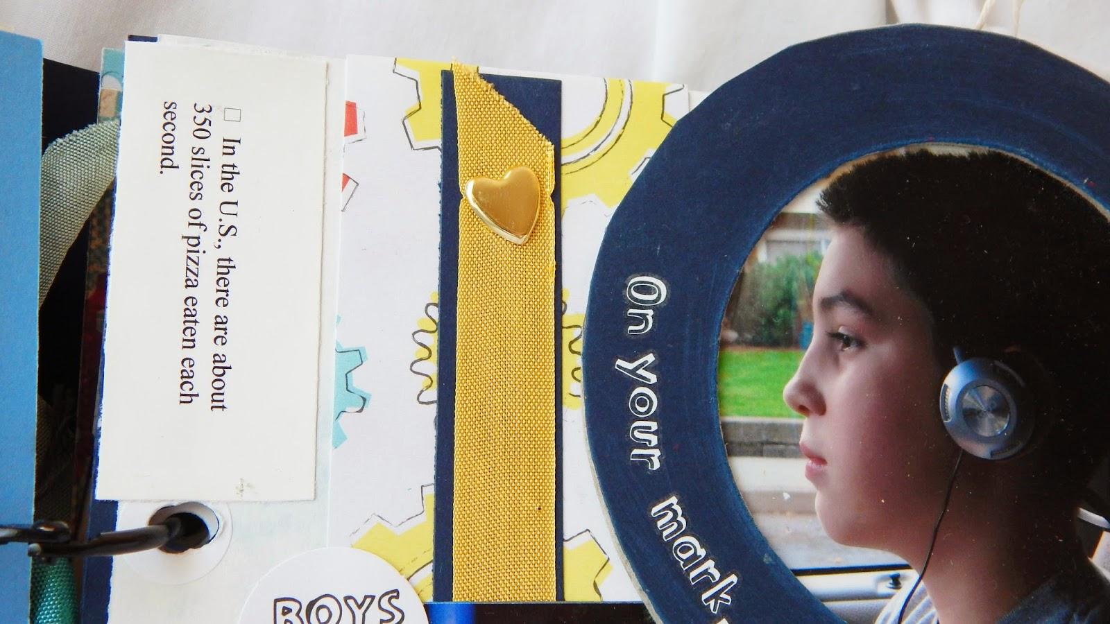 Dapoppins, scrapbook, scrapbook for boys