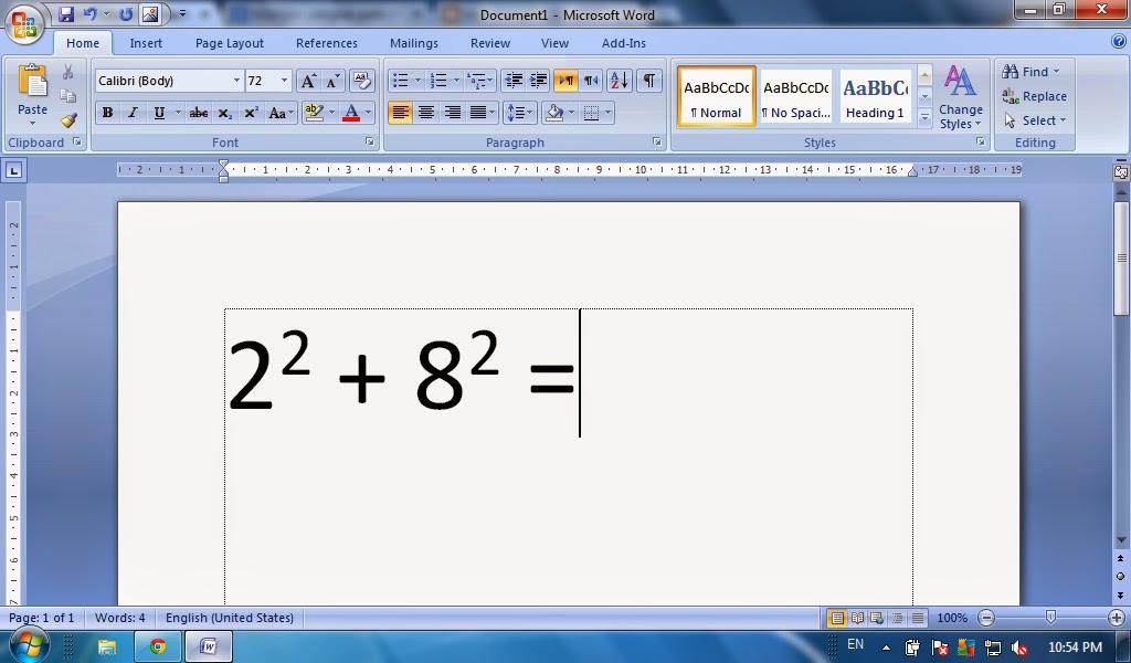 Cara Membuat Pangkat Pada Microsoft Word Fungsi