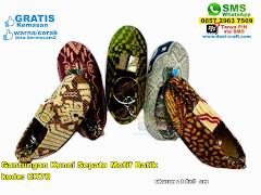 Gantungan Kunci Sepatu Motif Batik