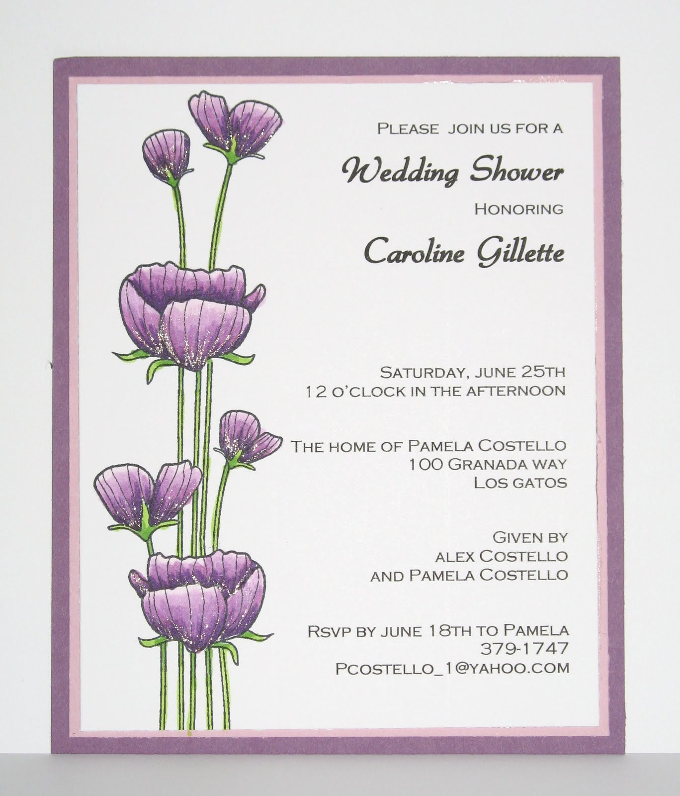 Sample Bridal Shower Invitations. Open Office Birthday Card Templates ...