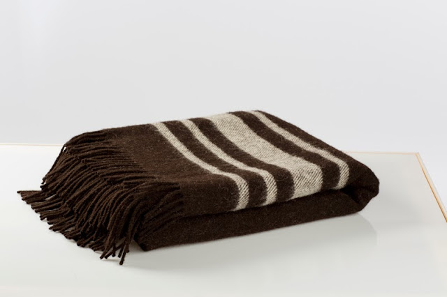 Zwartbles travel rug by Cushendale Woollen Mills, exhibited at Vernacular at London Design Festival 2013