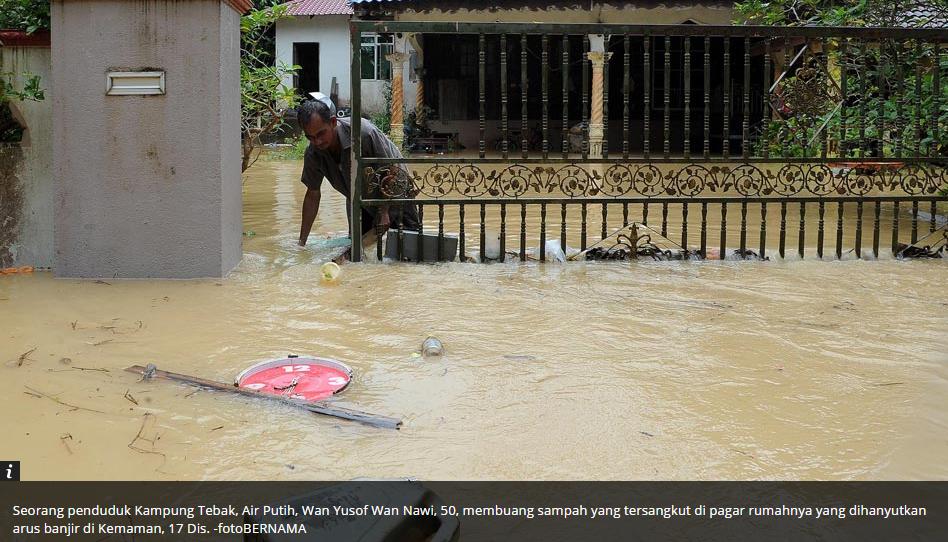 Gambar Kejadian Banjir Di Pantai Timur Malaysia Disember 2014