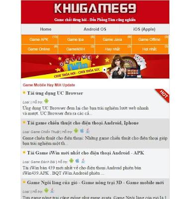 3 Template Blogspot Wapsite làm trang tải game, ứng dụng