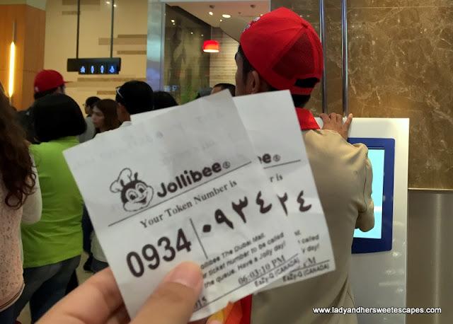Jollibee Dubai token number