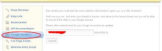 memasang google analytics di adfly