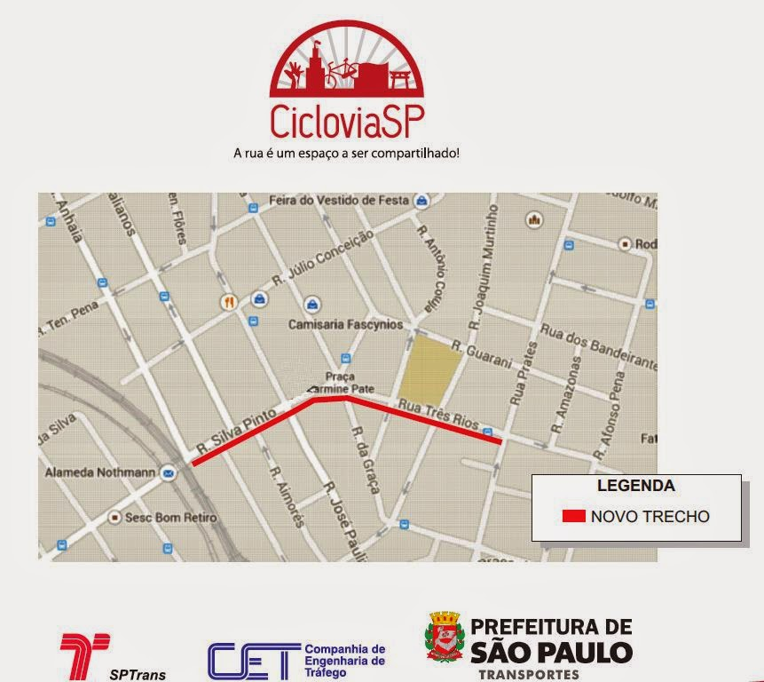 Ciclovia Rua Silva Pinto