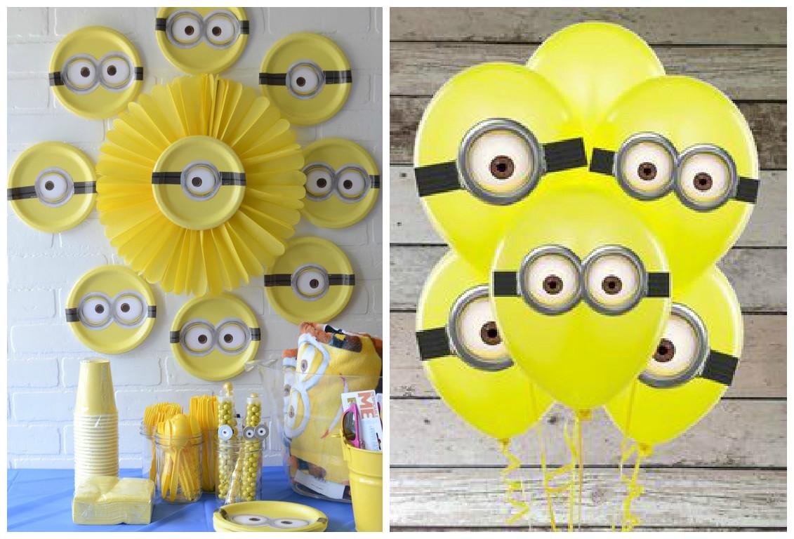 Minions Decoracion Para Fiestas ~ Dale clic derecho y guarda los moldes de los ojos para imprimir