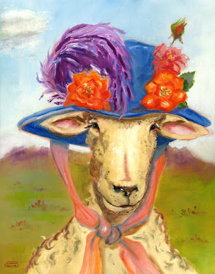 Sheep In Fancy Hat by Susan Thomas