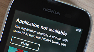 Nokia Lumia 610 is the first Windows Phone built to 'Tango' specs, but can't run Skype due to a lack of RAM.